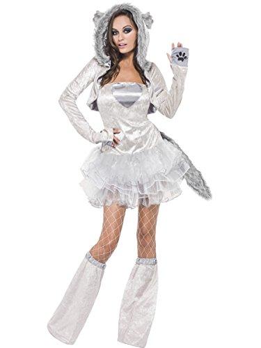 Fever Women's Wolf, Grey, Medium (Sexy Wolf Woman Costume)