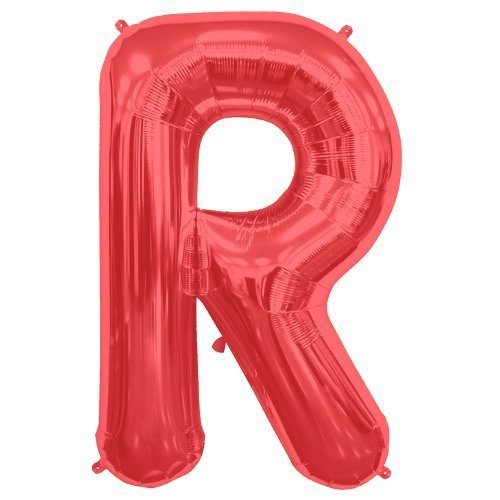 34 Red Supershape Foil Letter-R (Sold Uninflated) by Party2u by Party2u