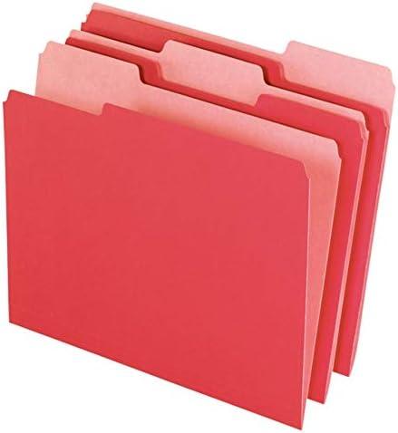 Box of 100 97662 Red 1//3 Cut Office Depot File Folders Letter