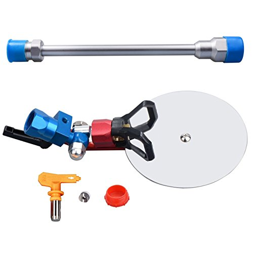 """Jinwen 120025 Spray Guide Accessory Tool for All Airless Paint Sprayer 7/8"""" w/517 Tip with 10 inch Extension Pole"""