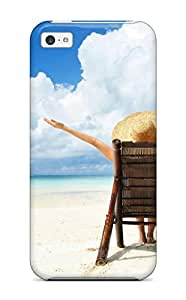 High-quality Durable Protection Case For Iphone 5c(vocation Vacation Beach)