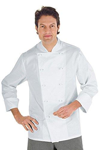 3xl Antipanico Cuoco m² Giacca Manica Tessuto Gr 100 Cotone Classica 210 Bianco Mezza Bianco 22454 Bottoni Isacco xfIFv1n