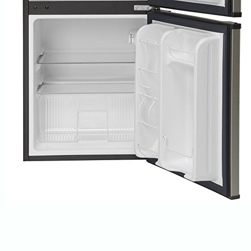 GE Appliances 3 1 Cubic Foot Freestanding Double Door Compact Refrigerator,  Slate