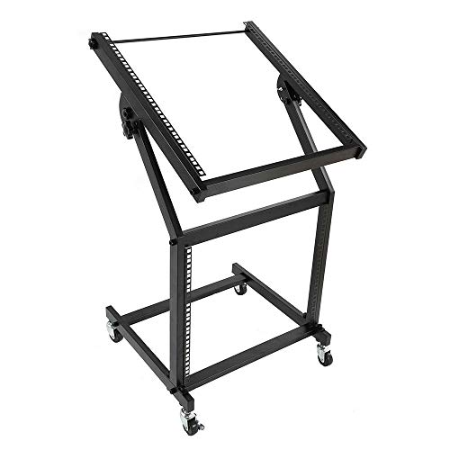 19U Mixer Studio Rack Stand on Wheels stand Black Dj Iron Rolling Sonic Accessories General Musical Instruments Gear Pro Audio Equipment Cases, Racks Bags Steel Acoustic Accessory Apparatus Universal from Lek Store
