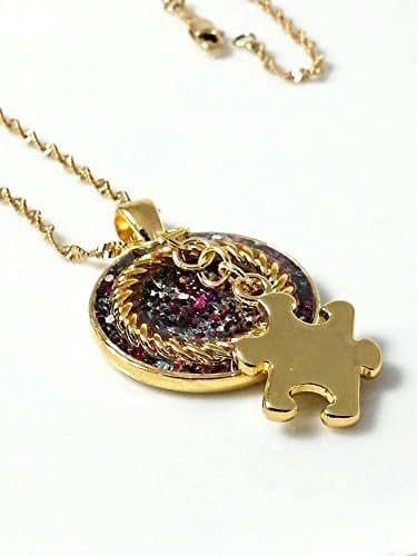 Amazon.com: Autism Resin Multi Colored Pendant Necklace