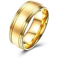 Mooremastle Trendy Male Jewelry Wedding Band No Setting Regular Geometry Round Shaped Decor Titanium Steel Party Finger Ring