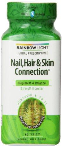 Радуга свет ногтей, волос и кожи крепление опор на основе таблетки, 60 граф Бутылка
