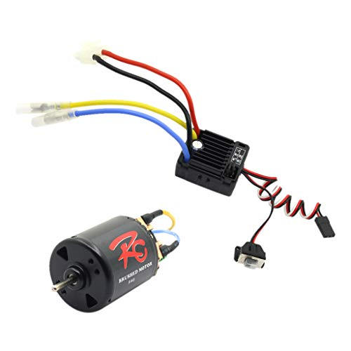 Hisoul Hot  for RC Rock Crawler Brushless Motor Kit RC 540 55T Brushless Motor with 60A Waterproof ESC (♥ E)