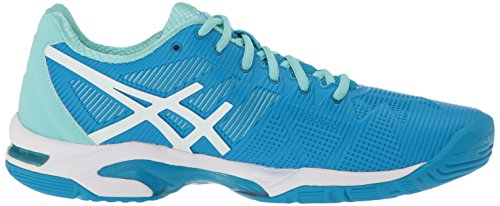 Blue Gel 3 Splash Tennis Women's ASICS Diva Shoe White Aqua Speed Solution HRxfa5w5Pq