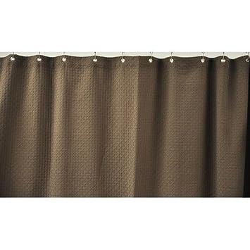 72X72 100 NON GMO Turkish Cotton Waffle Weave Shower Curtain CHOCOLATE
