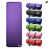 JLL Yoga Mat Extra Thick 15mm Non-Slip Pilates Workout (Purple)