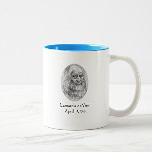 Zazzle Davinci Mug, Light Blue Two-Tone Mug 11 oz - Da Vinci 11 Light
