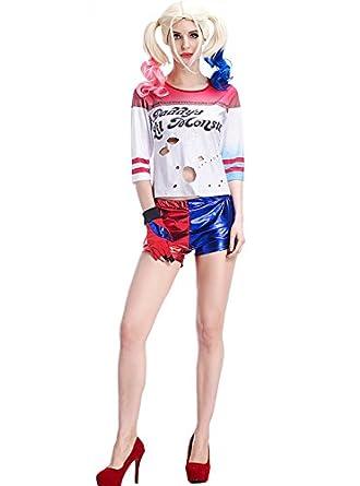 Amazon.com: Es Unico Harley Quinn Costume for Adult Women ...