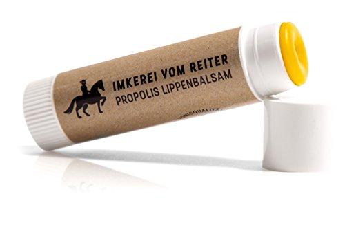 Propolis Lippenbalsam vom Reiter, natürliche Lippenpflege mit Bienenwachs & Honig gegen trockene Lippen
