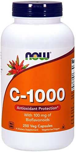 Now Foods C-1000 With 100 mg of Bioflavonoids 250 Veg Capsules