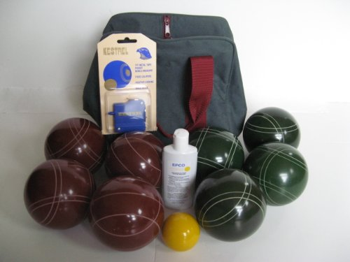 Premium Quality Basic EPCO Bocce package - 107mm Red and Green balls, quality nylon bag, meas... by Epco
