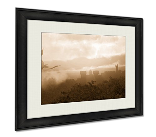 Larger Scale Wings (Ashley Framed Prints Misty Fantasy Forest, Wall Art Home Decoration, Sepia, 26x30 (frame size), AG5833705)