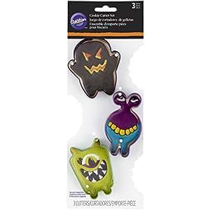 Wilton 3-Piece Monster Halloween Cookie Cutter Set