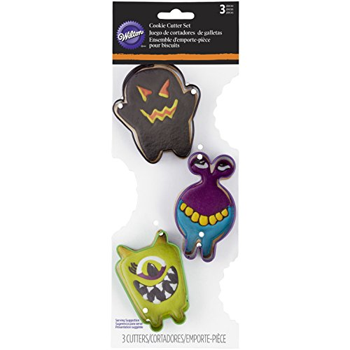 Wilton 3-Piece Monster Halloween Cookie Cutter Set (Monster Halloween Cookies)