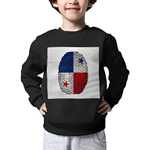AW-KOCP Children's Panama Flag Fingerprint Sweater Boys Girls Pullover Sweaters for $<!--$17.76-->