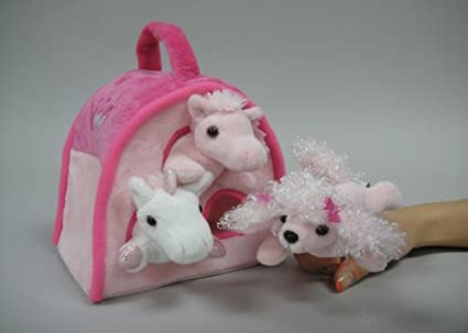 Pink Animal Finger Puppet Play House 8 by Unipak Unipak Designs