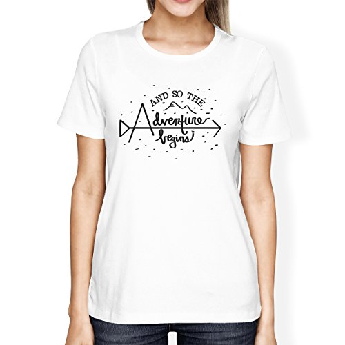 Printing Taille Adventure 365 The Femme Unique Courtes Begins So shirt T Manches And White YwaqPdw