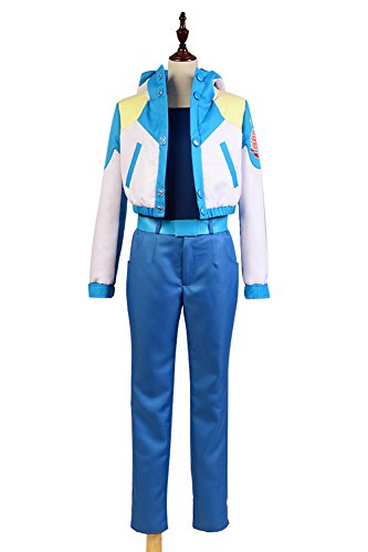 NoveltyBoy Dramatical Murder Aoba Seragaki Coat Jacket Blue Pants Set Cosplay Costume