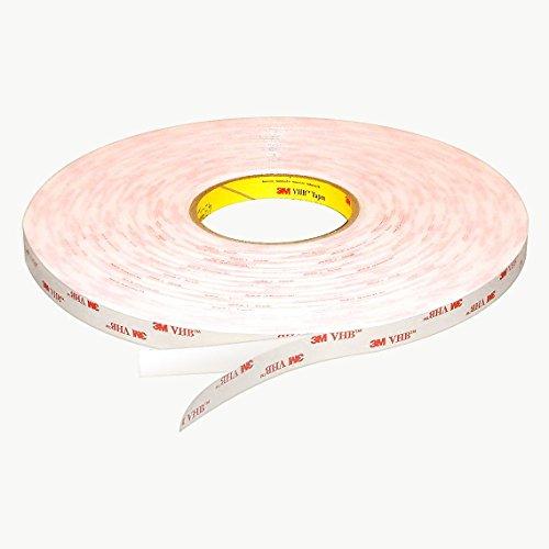 3M Scotch 021200-67791 3M Scotch 4952 VHB Tape: 1/2'' x 36 yd., White by 3M