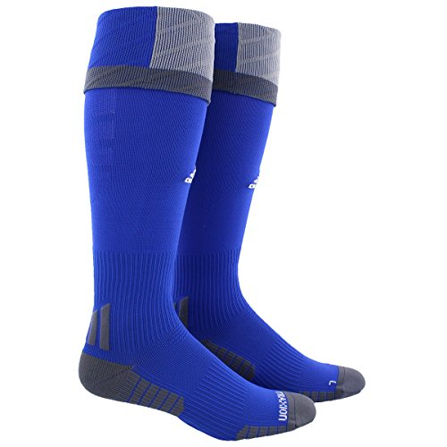 adidas Traxion Premier Soccer Socks (1-Pack), Bold Blue/Light Onyx/Onyx, Medium