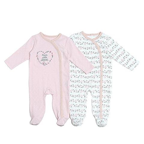 Kyle & Deena Baby Girl 2 Pack Floral Sleeper Set 0-3 M (Twin Sleepers)