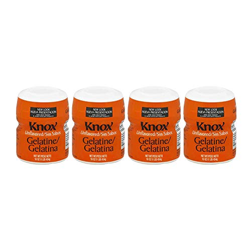 Unflavored Knox Original Gelatin, 16-Ounces Cans(1 lb) - Pack of 4