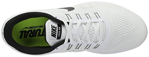 Nike Free Run, Chaussures de Running Entrainement Femme Blanco (White / Black)
