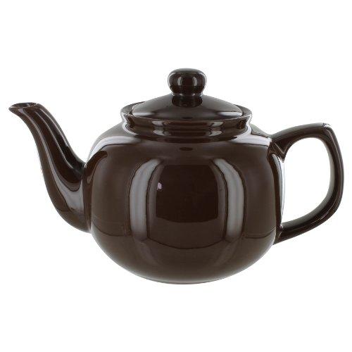 English Tea Store 6 Cup Teapot Brown Gloss Finish