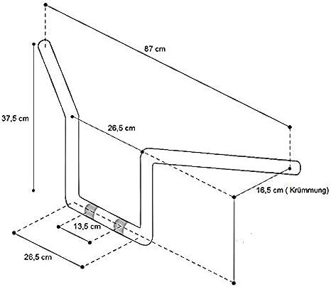 Lenker Fat Ape Hanger Square 14 Für Honda Shadow Vt 600 750 C Schwarz Auto