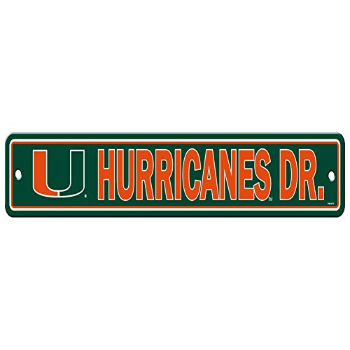 NCAA Miami Hurricanes Street Sign, 4