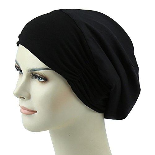 Smooth Satin Lined Sleep Cap For Long Hair Girl Casual Slouchy Beanie Wig Accessories Headwear