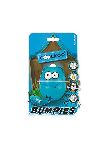COOCKOO BUMPIES | Stimulating Interactive Treat Dispenser Chew Toy for Dogs (Regular, Mint)