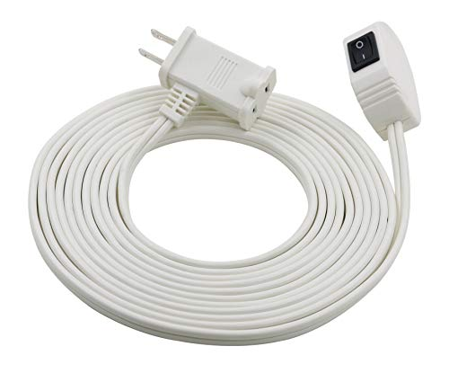 - Prime Wire & Cable EC870615 16/2 SPT-2 Remote-Switch Cord, 15 Feet, White