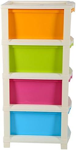 Joyful Studio 4 XL Plastic Modular Drawer System, Multi Colour (31cmx39cmx80.9 cm) (Multi, studio4XL)