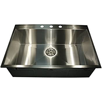 Attractive This Item Nantucket Sinks ZR3322 33 Inch Pro Series Single Bowl Self Rimming  Kitchen Sink, Stainless Steel