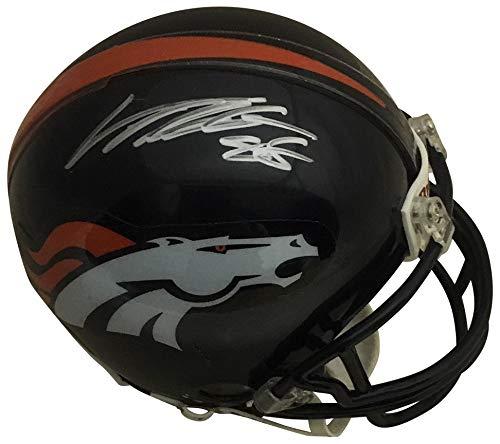 Von Miller Autographed Denver Broncos Signed Football Mini Helmet PSA DNA COA ()