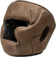 Hayabusa T3 LX Leather Adjustable MMA Headgear - Brown, One Size - Brown, One Size
