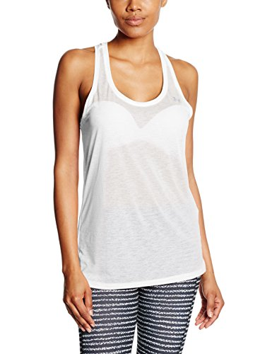 Under Armour Tech - Camiseta de tirantes para mujer Blanco/Plateado metálico