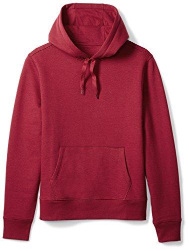 Amazon Essentials Men's Hooded Fleece Sweatshirt, Red, (Classic Drawstring Pullover)