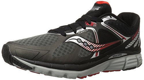 Saucony Men's Kinvara 6 Running Shoe, Black/Grey/Red,11 M US