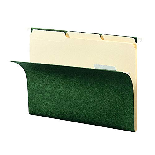 SMEAD 92007  Smead Hanging File Folder Kit, Letter Size, Set of 24 Hanging File Folders and 24 Top Tab File Folders, Standard Green and Manila Set