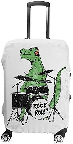 スーツケースカバー トラベルケース 荷物カバー 弾性素材 傷を防ぐ ほこりや汚れを防ぐ 個性 出張 男性と女性岩恐竜