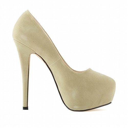 Platform High Heel 24XOmx55S99 Party Hidden Pumps Women's apricot ZfwZqRExt