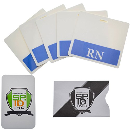 RN Horizontal Badge Buddy with Blue Border by Specialist ID (5 Pack with Bonus)