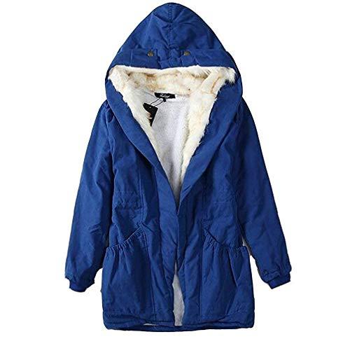 Pelle Tasche Invernali Donna Cappotti Inclusa Stile Di Giovane Modern Manica Colori Mantello Solidi Con Blau Cintura Addensare Giacca Cappuccio Button Anteriori Lunga r8wr5cAEq